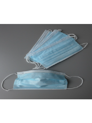 Unigloves Einweg OP-Mundschutz, unsteril, glasfaserfreie, Nasenbügel, latexfreie runde hautfreundliche Elastikbänder nach  EN 14683