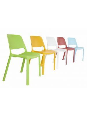 Wartezimmer Stuhl  Stapelstuhl Nuke , abwischbar, UV-und Wetterbeständig, outdoorgeeignet