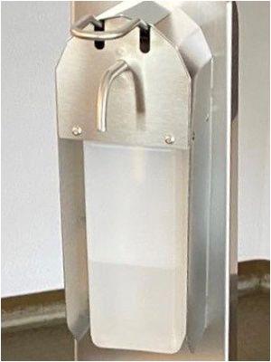 Desinfektionsmittelspender mit langem Bedienhebel 119932X